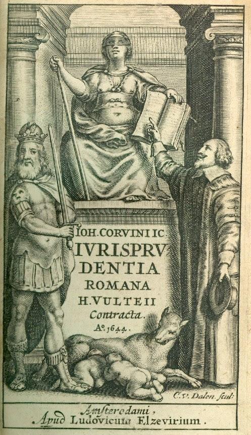 Frontispiece Corvinus Ivrispruvdentia Romana
