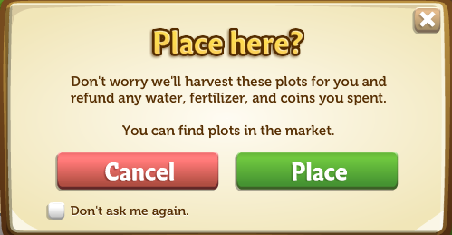 Place confirmation
