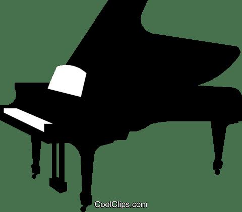 グランドピアノ ロイヤリティ無料ベクタークリップアートイラスト