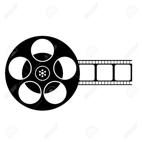 Film Reel Vector Black And White