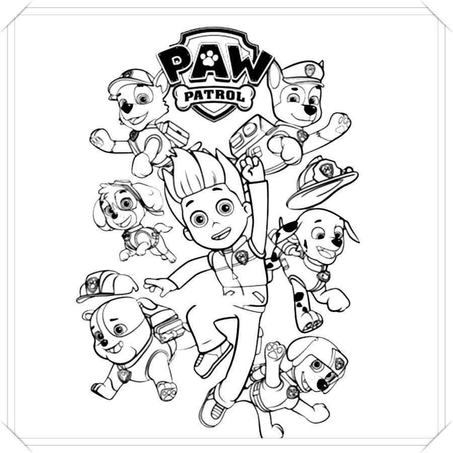 Dibujos Para Colorear Online De La Patrulla Canina