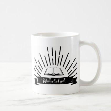 Intellectual Girl Funny Nerd Slogan Print Coffee Mug