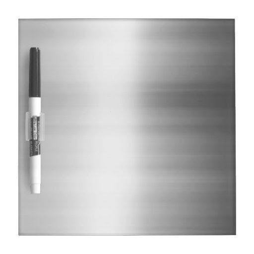Stainless Steel Metal Look Dry-Erase Board from Zazzle.
