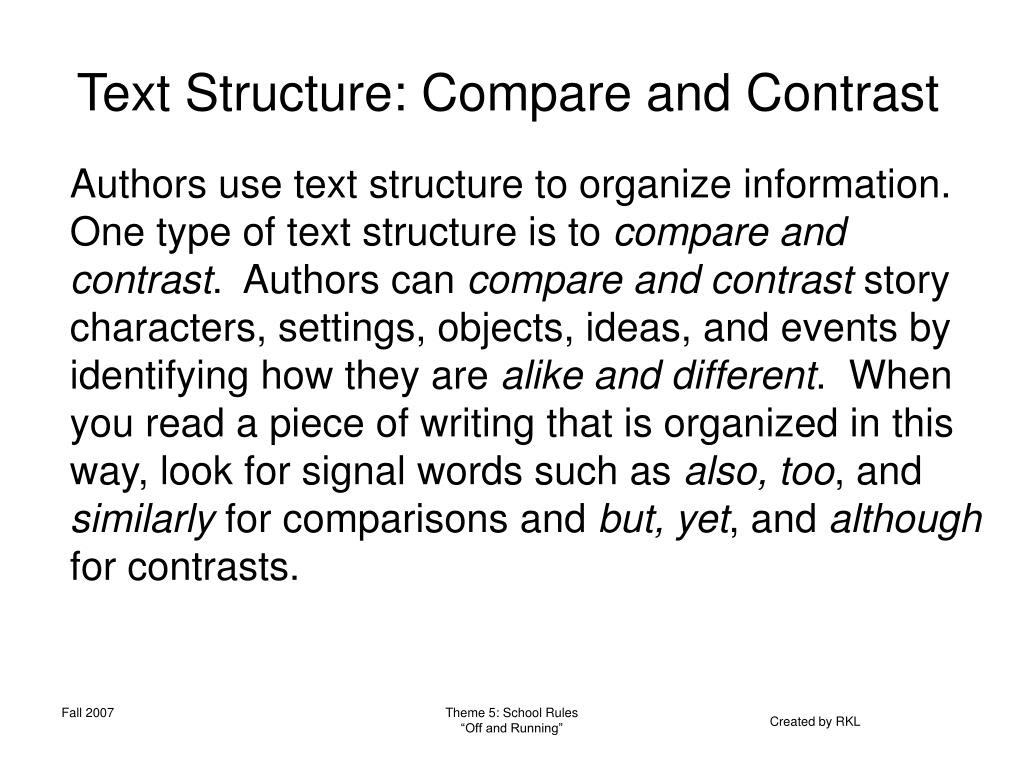 writing a compare and contrast essay about presentation of ideas drafting active