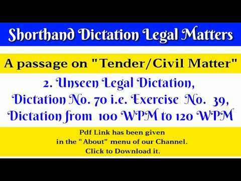 120 WPM, Shorthand Dictation, Legal, Volume 2, Transcription