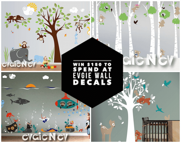 Giveaway - Win $150 To Spend At Evgie Wall Decals. Ends 2/1