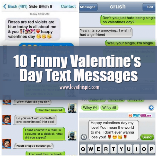10 Funny Valentines Day Text Messages