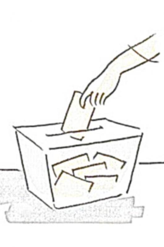 Urna Electoral Dibujo De Caja De Votacion Para Pintar Y Colorear