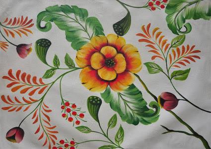 Lukisan Bunga 3  Lukisan Souvenir Jogja