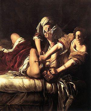 Judith Beheading Holofernes, Oil on canvas, 19...