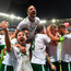 9 October 2017; James McClean, second from right, of Republic of Ireland celebrates with team-mates after scoring his side's first goal during the FIFA World Cup Qualifier Group D mat   ch between Wales and Republic of Ireland at Cardiff City Stadium in Cardiff, Wales. Photo by Stephen McCarthy/Sportsfile