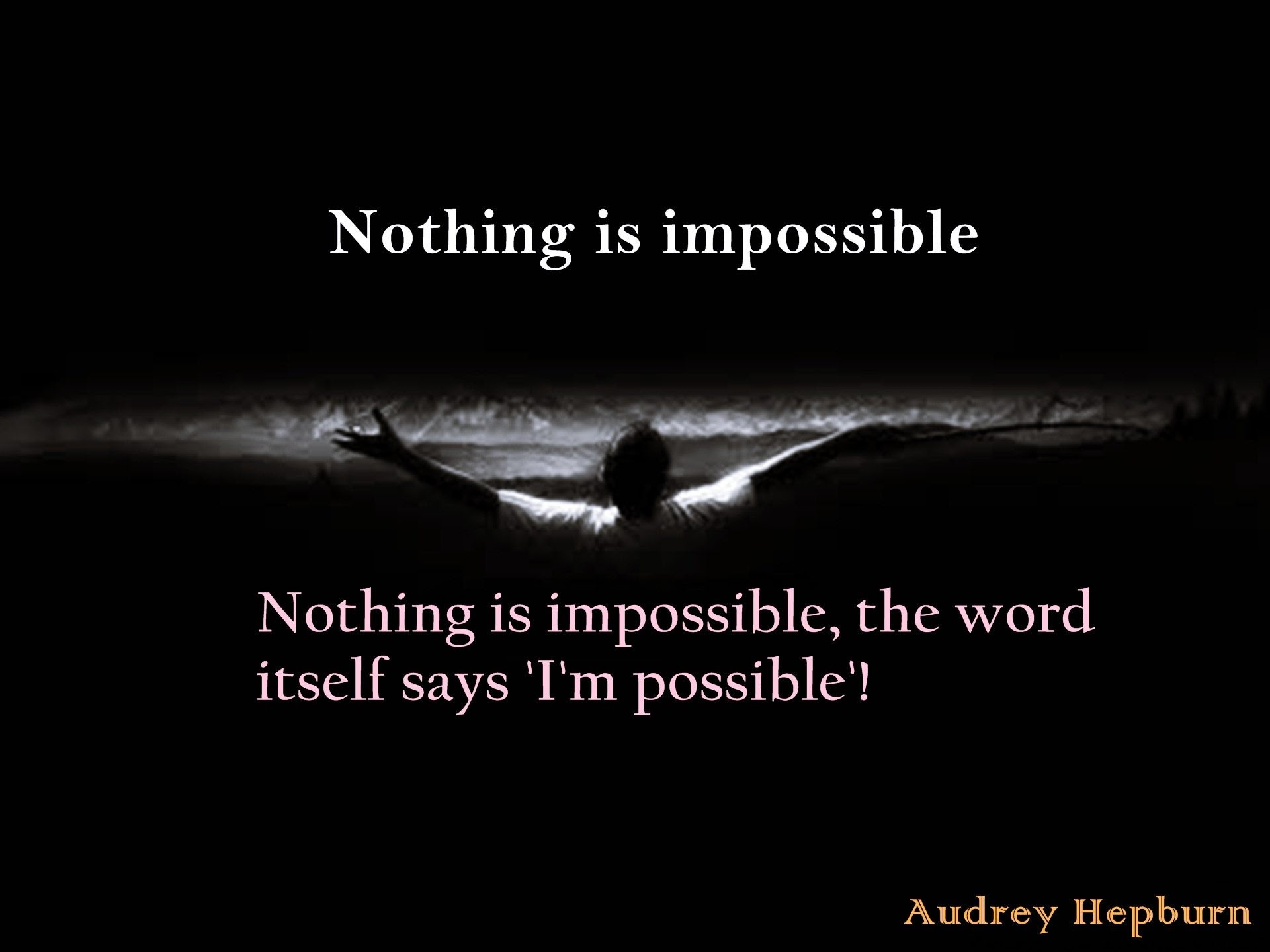 Nothing Is Impossible Quotes Wallpaper 00847 Baltana
