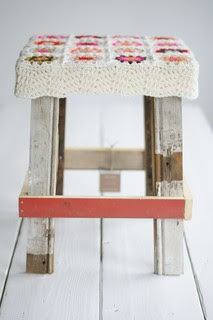 wood & wool stool michelle