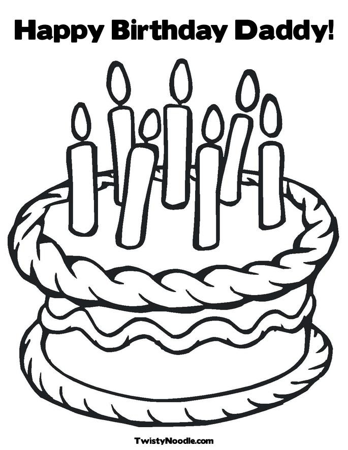 happy birthday coloring pages for dad. Happy Birthday Daddy! Coloring