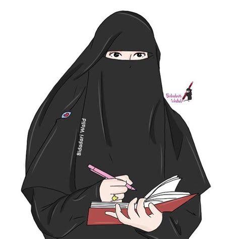 gambar kartun muslimah bercadar  penulis anime