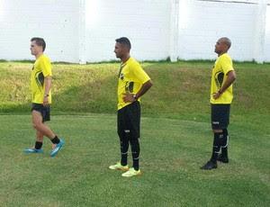 Zé Mário, Fabinho Alves e Luizão - novos jogadores do ABc (Foto: Divulgação/ABC)