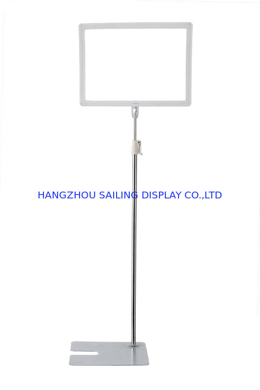 Promotional Floor Standing Sign Holders A3 Or A4 Metal Bulletin