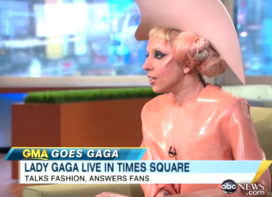 PHOTOS: Gaga Wears Facial Horns, Condom-Inspired Outfit On 'GMA'