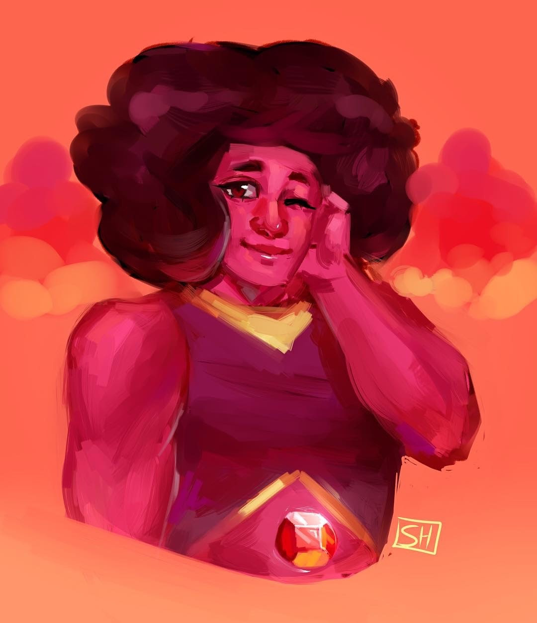 Decided to do a little painting of Navy, she's definitely my favorite ruby!
