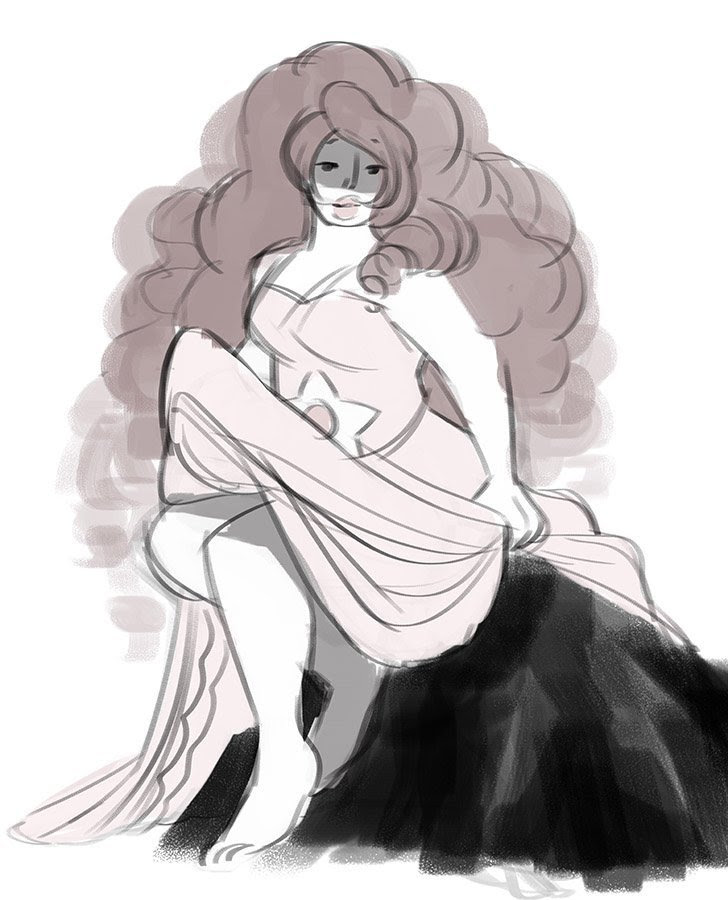 I drew a lot of Rose Quartz for warm ups for a long time and now you are REAPING THE BENEFITS also a single Pearl I guess