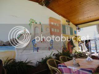 Outdoor cafe decor-