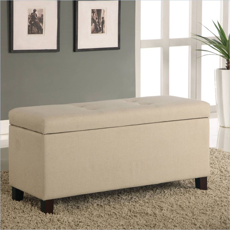 Modus Furniture Urban Seating Storage Bench Natural Linen ...