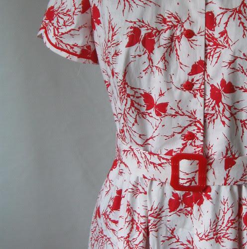 Vintage dress buckle closeup
