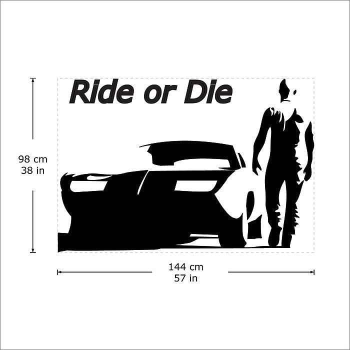 Ride Or Die Toretto Vinyl Wall Art Decal