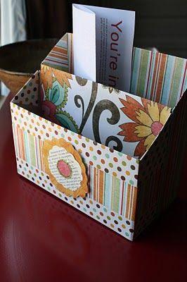 Capsa de cereals per a fer organitzador de material