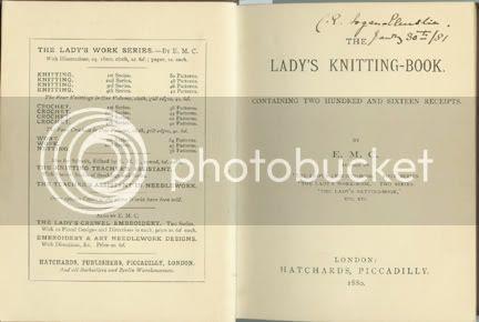 knitting book insert