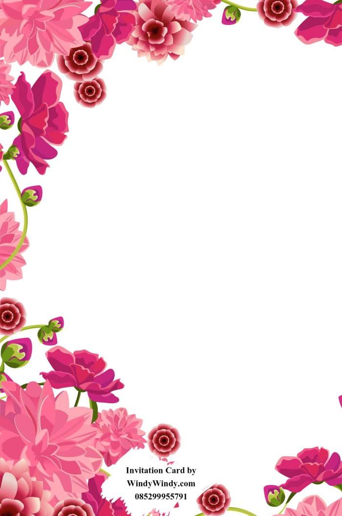 Bingkai Undangan Pernikahan Pink