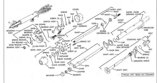 33 1968 chevelle steering column diagram