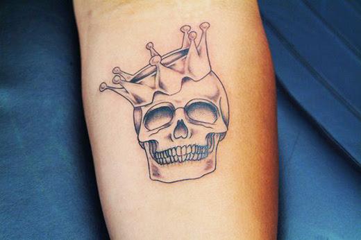 Crown Skull Tattoo On Arm