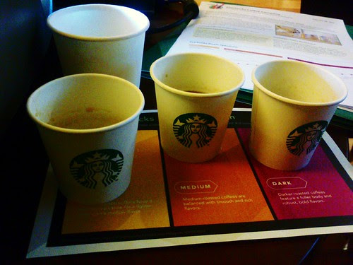 Im tasting the new coffee of Starbucks by popazrael