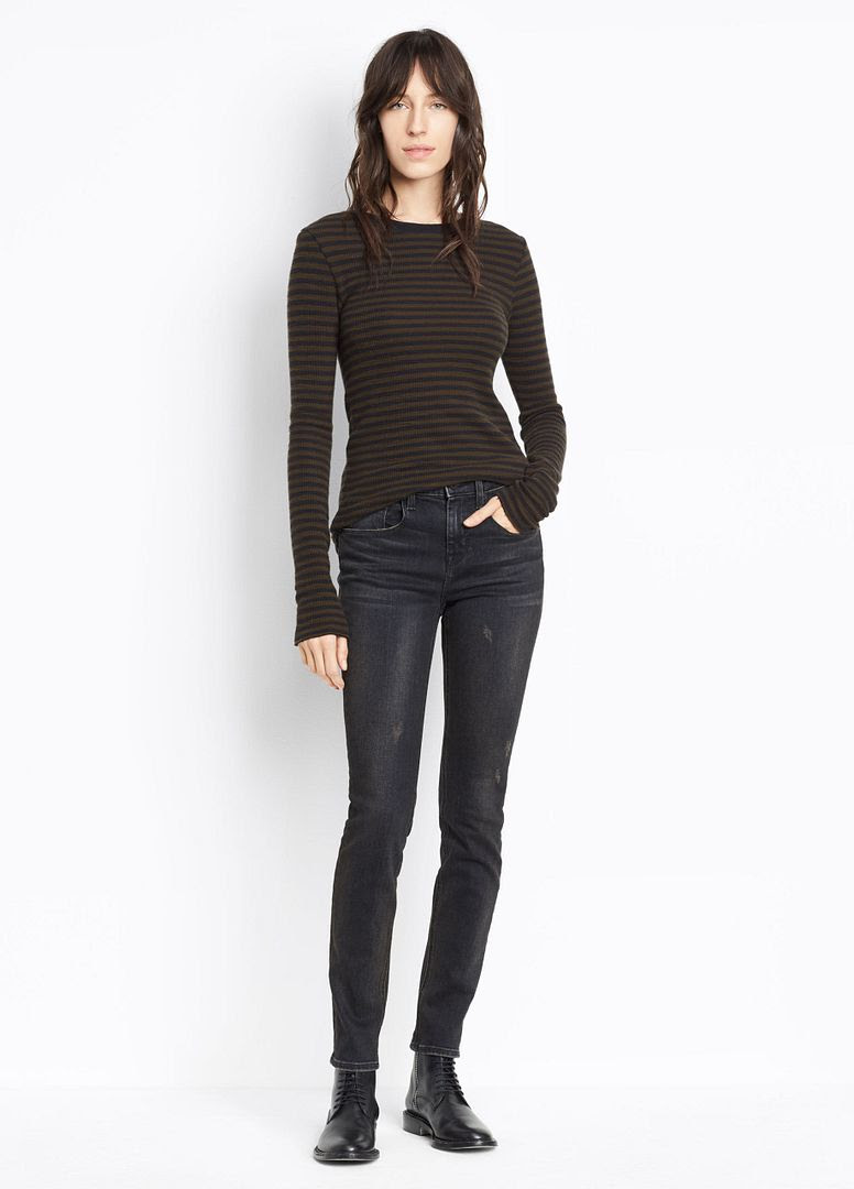 Vince Skinny Jean in Vintage Black Wash