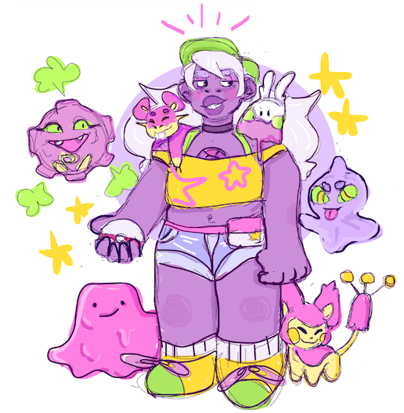 ITS THE A TEAM so i was thinking about what pokemon the gems would like bc of sun and moon and this happened shout out to @waltr for helping me pick the pokes