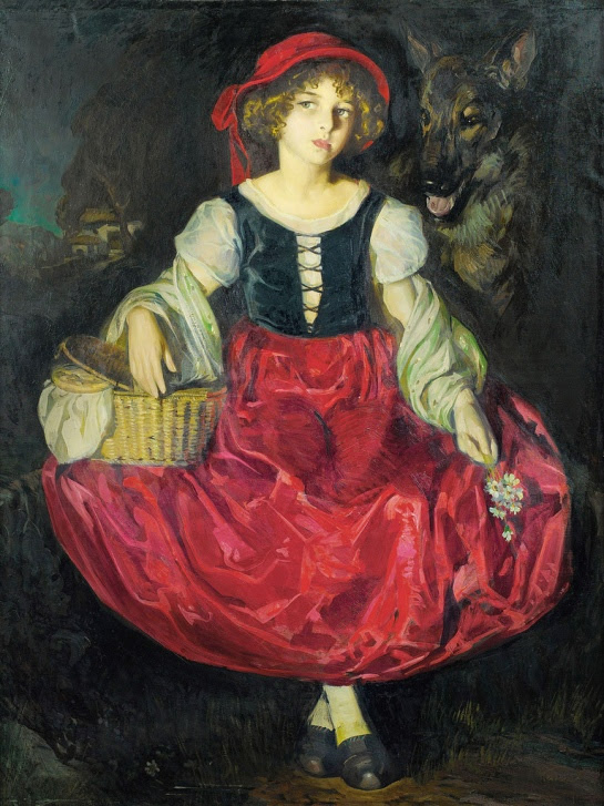 Jose Cruz Herrera. Красная Шапочка и волк / Little Red Riding Hood