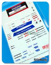 Calcas 1/24 Hobby Design - Logos:  Motys, Fells, Potenza, FET, Samco, Hankook, Zeal, JS Racing, Seeker, ...