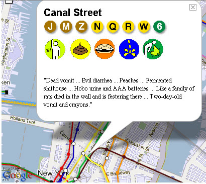 New York Subway Smells Map