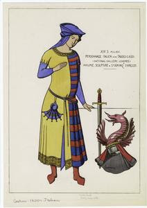 Personnage italien. Digital ID: 810662. New York Public Library