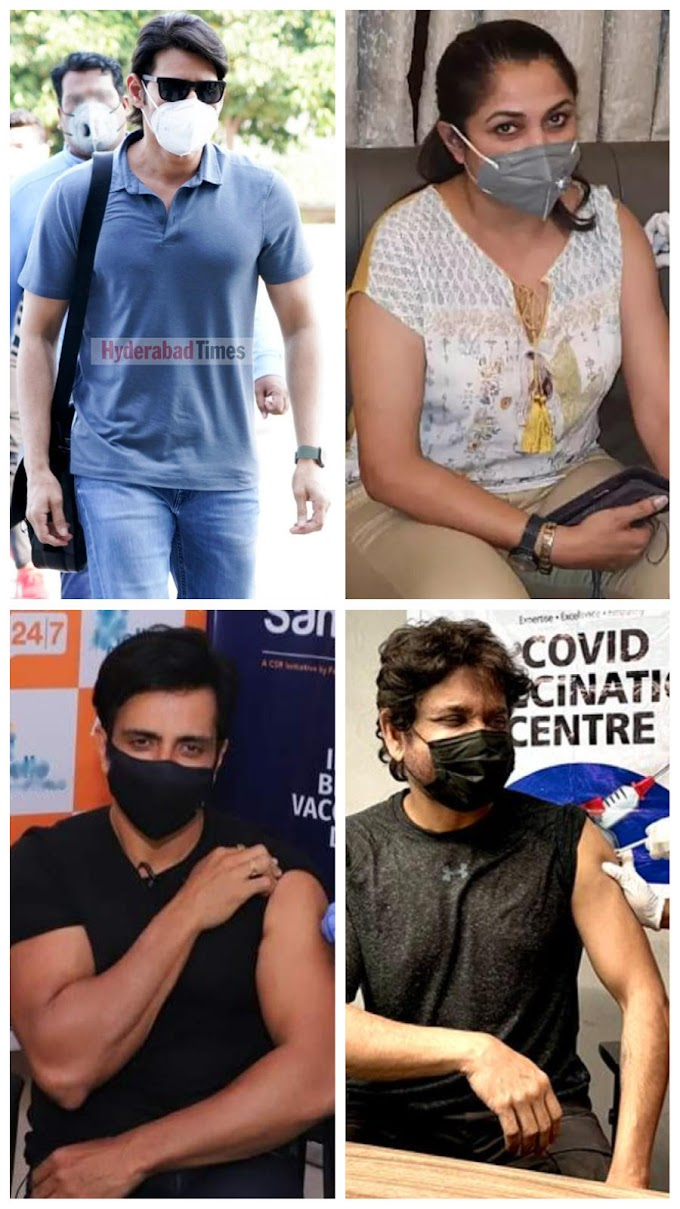 South Indian stars vaccinated for Covid-19