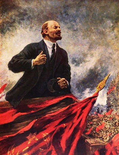 Lenin on a Tribune