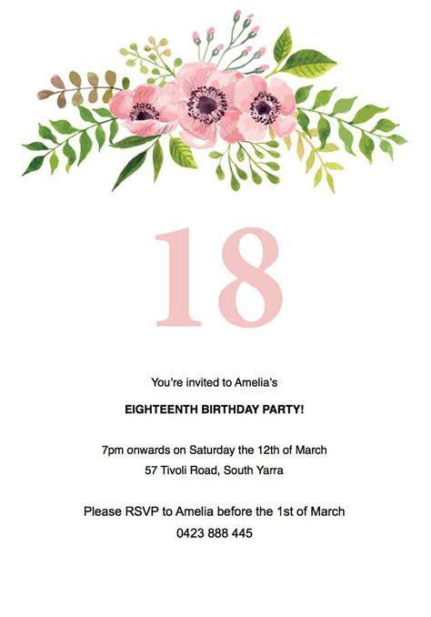 40 Free 18th Birthday Invitation Templates, Birthday