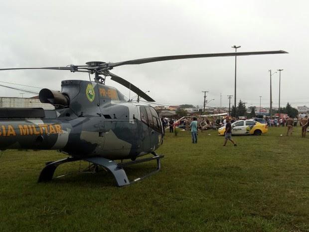 Queda foi em Araucária, na Região Metropolitana de Curitiba (Foto: Divulgação/Polícia Militar de Operações Aéreas)