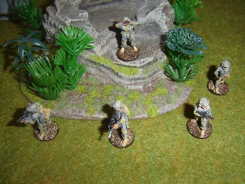3rd Fire Team - Sakhan Heavy Infantry
