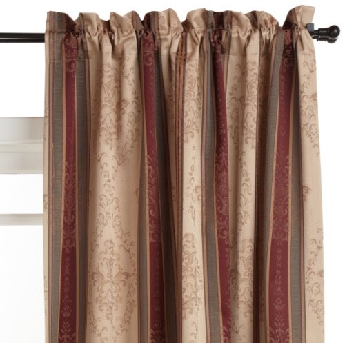 52 Inch By 63 Inch Tuscan Stripe Thermal Backed Pole Top