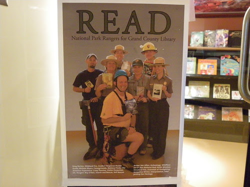 Local readers (from the National Parks Service) in the Read promotion - Grand County Public Library, Moab