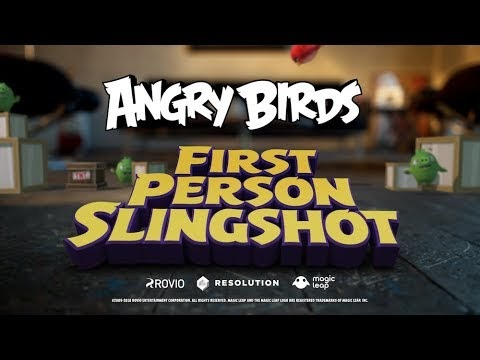 For the first time Angry Birds game mixed reality technology