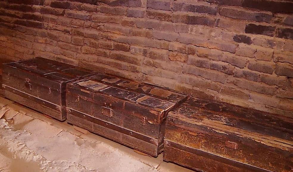 Em 1927 os pertences dos moradores eram guardados em baús (Foto: Reprodução/Inter TV Cabugi)
