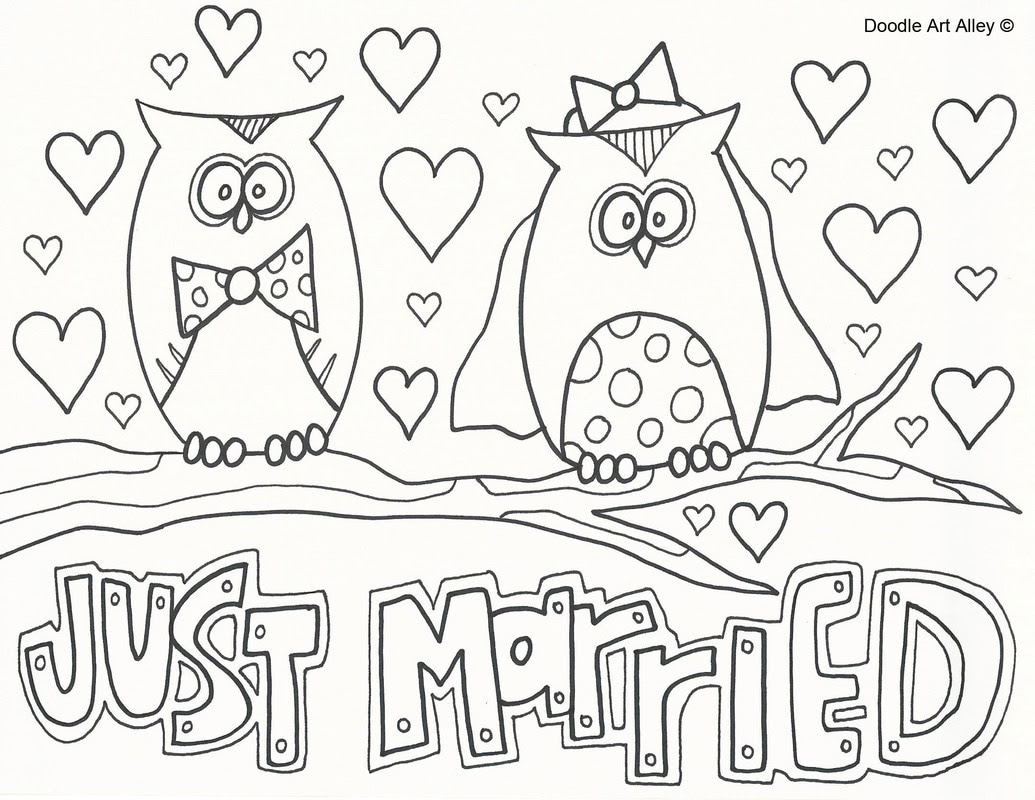 Wedding Coloring Pages - Doodle Art Alley